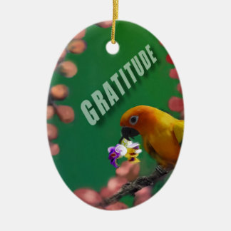 My deepest thanks to you. ceramic oval ornament