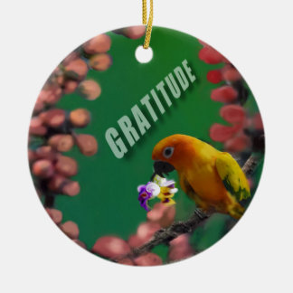 My deepest thanks to you. round ceramic ornament
