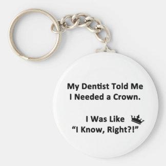 My Dentist Told Me Keychain