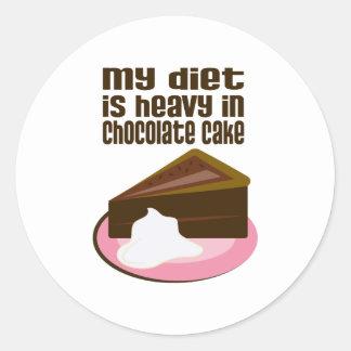My Diet Is Heavy In Chocolate Round Sticker