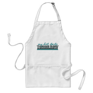 My Diet Starts Tomorrow Standard Apron