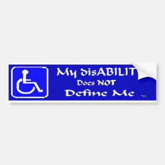 my disAbility Bumper Sticker