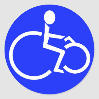 my disabled cyclist symbolRGB.jpg Classic Round Sticker