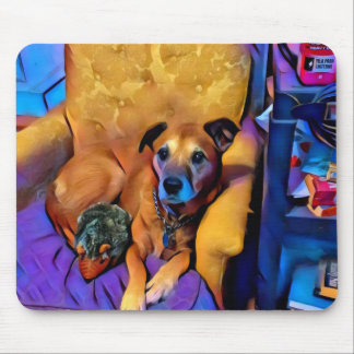 my dog amber. mouse pad