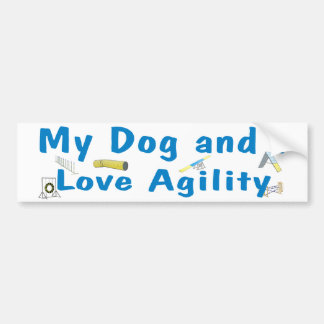 My Dog and I Love Agility Bumper Sticker