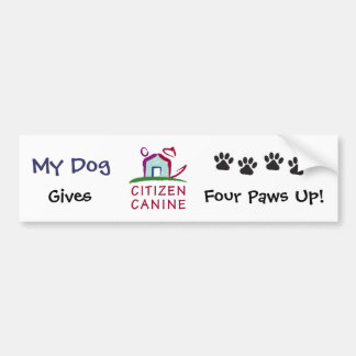 [My Dog] Gives CC 4 Paws Up! Bumper Sticker