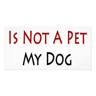 My Dog Is Not A Pet My Dog Is Family Personalized Photo Card