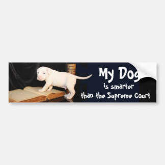 My Dog is Smarter than the Supreme Court Bumper Sticker