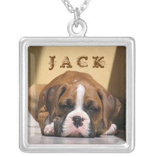My Dog Jack - Photo Template Silver Plated Necklace