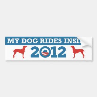 My Dog Rides Inside Obama 2012 Bumper Sticker