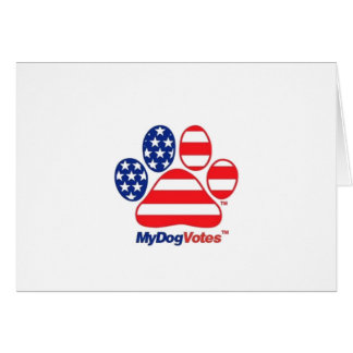 My Dog Votes USA Greeting Card