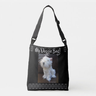 MY DOGGIE BAG! 4 WHITE SCOTTY CROSSBODY BAG