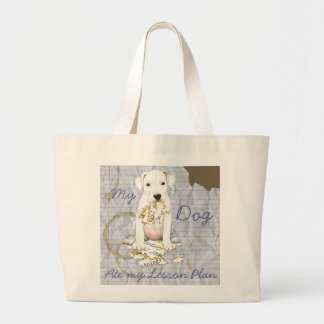 My Dogo Ate My Lesson Plan Jumbo Tote Bag