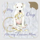 My Dogo Ate My Lesson Plan Square Sticker