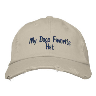 My Dogs Favorite Hat Embroidered Baseball Cap