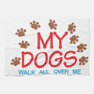 My Dogs Walk Kitchen Towel