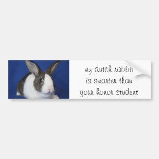 """""""my Dutch Rabbit..."""" Bumper Sticker Car Bumper Sticker"""