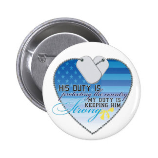 My Duty 2 Inch Round Button