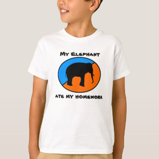 My Elephant ate my homework T-Shirt