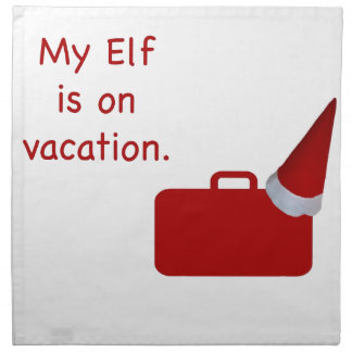 My Elf is on vacation products Napkins