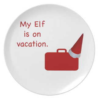 My Elf is on vacation products Plate