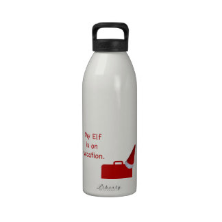 My Elf is on vacation products Drinking Bottle
