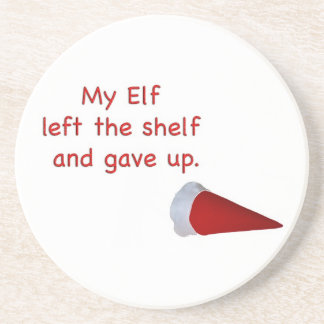 My Elf left the shelf and gave up Coasters