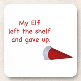 My Elf left the shelf and gave up Drink Coaster