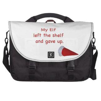 My Elf left the shelf and gave up Laptop Messenger Bag
