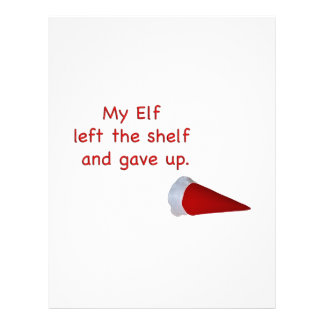 My Elf left the shelf and gave up Letterhead