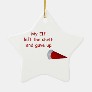 My Elf left the shelf and gave up Ornaments