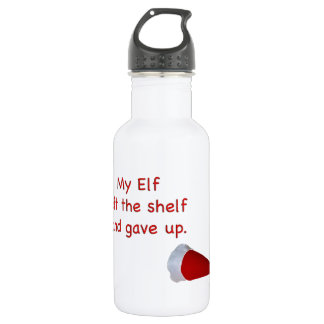 My Elf left the shelf and gave up 18oz Water Bottle