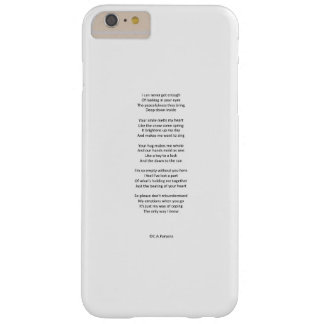 My emotions barely there iPhone 6 plus case