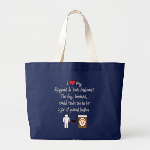 My Épagneul de Pont-Audemer Loves Peanut Butter Canvas Bags