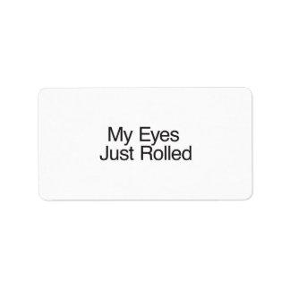 My Eyes Just Rolled Custom Address Label