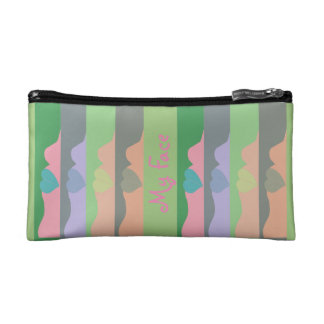 My Face Rainbow Graphic Cosmetic Bag