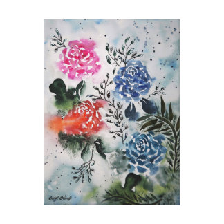 My Fair Roses Watercolor Canvas Print