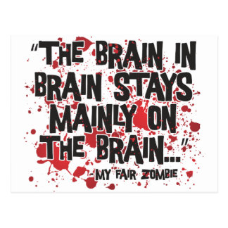 My Fair Zombie Postcard