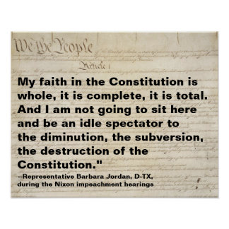 My Faith in the Constitution is Whole Protest Poster