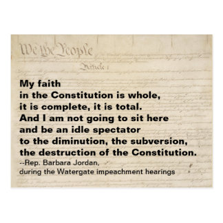 My Faith in the Constitution is Whole Resistance Postcard