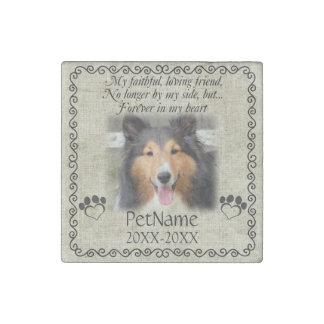 My Faithful Friend Pet Sympathy Custom Burlap Stone Magnets
