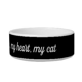 my familiar, my heart, my cat bowl