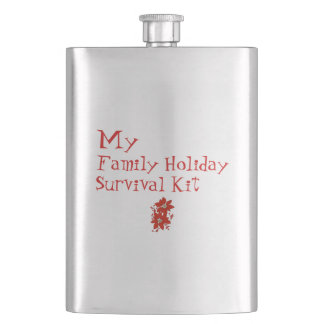 My Family Holiday Survival Kit Hip Flask