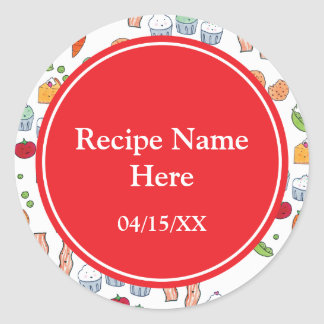 My Family Recipes Classic Round Sticker