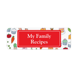 My Family Recipes Return Address Label
