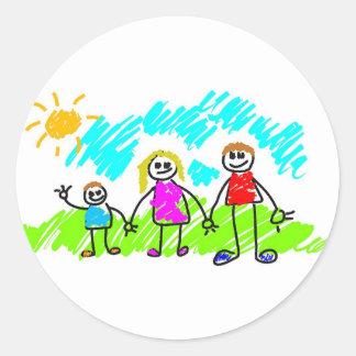 My Family Round Sticker
