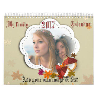 My family within a framework in each month calendars