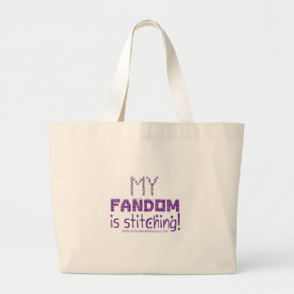 My Fandom In Stitching, version 2 Large Tote Bag