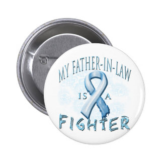 My Father-In-Law is a Fighter Light Blue Pin