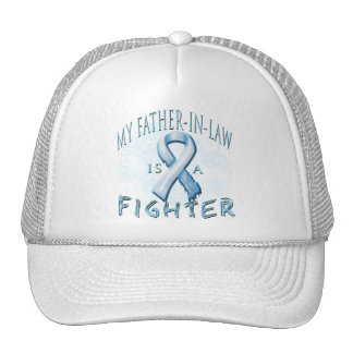 My Father-In-Law is a Fighter Light Blue Hats